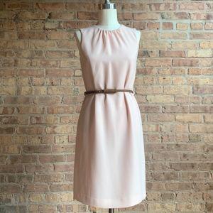 Zara blush pink sheath dress